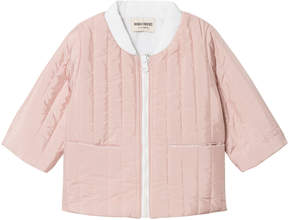 Bobo Choses Pale Pink and White Octopus Reversible Padded Jacket