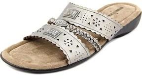 Minnetonka Gayle Women Ww Open Toe Synthetic Bronze Slides Sandal.