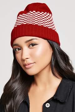 Forever 21 Checkered Knit Beanie