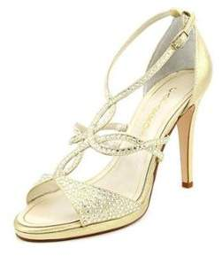 Caparros Nixie Women Open Toe Synthetic Gold Sandals