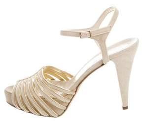 Alejandro Ingelmo Suede Platform Sandals w/ Tags