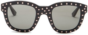 Saint Laurent Women's Studded Squared Sunglasses