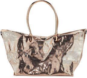Neiman Marcus Perforated Travel Weekender Duffel Bag