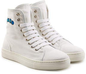 Kenzo High-Top Cotton Sneakers