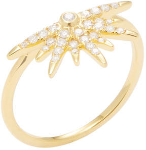 Artisan Women's 18K Yellow Gold & 0.23 Total Ct. Diamond Half Star Ring