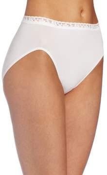 Bali Women's Comfort Revolution Seamless Lace Hi Cut Panty 2650