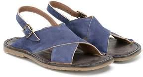 Pépé denim slip-on sandals