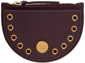 See by Chloe Burgundy Kriss Coin Pouch