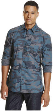 Joe Fresh Men's Camo Print Shirt, Navy (Size M)