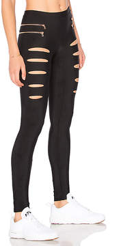 Blue Life Fit Slashed Moto Legging