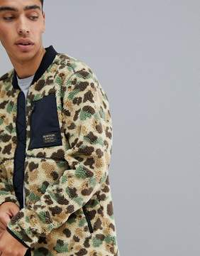 Burton Snowboards Grove Fleece Jacket in Duck Camo Print