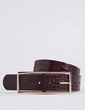 Marks and Spencer Faux Leather Buckle Waist Belt