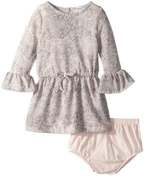 Splendid Littles Python Print Loose Knit Dress Girl's Dress