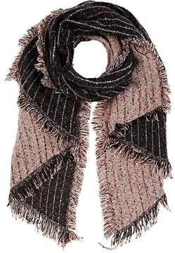 Barneys New York WOMEN'S STRIPED BOUCLÉ BLANKET SCARF