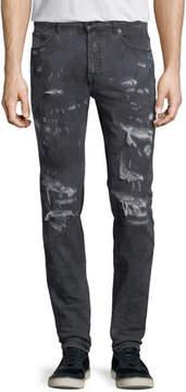 Marcelo Burlon County of Milan Arke Distressed Tie-Dye Slim-Fit Jeans
