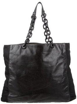 Prada Tessuto & Leather Chain Tote