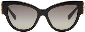 Versace Black Rock Icons Baroque Medusa Cat-Eye Sunglasses