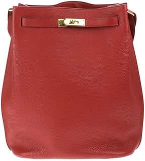 Hermes So Kelly leather handbag - RED - STYLE