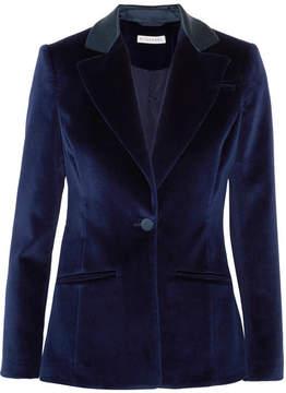 Altuzarra Acacia Cotton-blend Velvet Blazer - Midnight blue