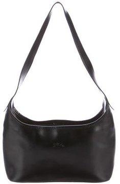 Longchamp Leather Shoulder Bag - BLACK - STYLE
