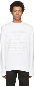 Raf Simons White Summer Games Sweatshirt