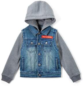 Urban Republic Gray Melange 'Old School' Denim Jacket - Boys
