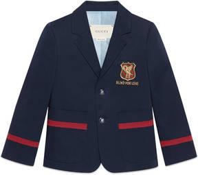 Gucci Children's gabardine jacket with crest