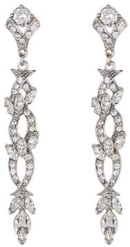 Ben-Amun Pave Crystal Intertwined Linear Drop Earrings
