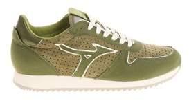 Mizuno Men's Green Fabric Sneakers.