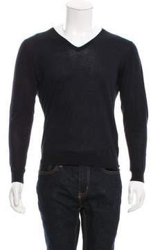 CNC Costume National Rib Knit V-Neck Sweater