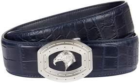 Stefano Ricci Crocodile Skin Eagle Belt