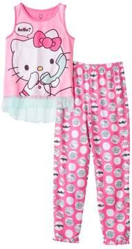 Hello Kitty Girls 4-12 Phone Pajama Set