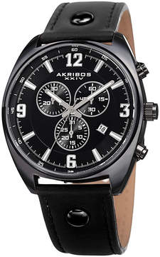 Akribos XXIV Mens Black Strap Watch-A-969bk
