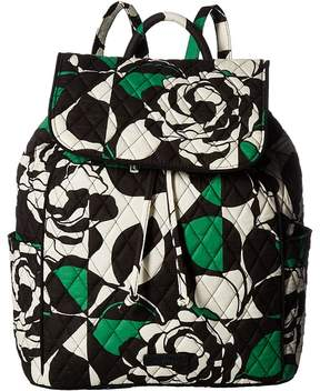 Vera Bradley Drawstring Backpack Backpack Bags - IMPERIAL ROSE - STYLE