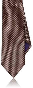 Ralph Lauren Purple Label Men's Square-Print Mulberry Silk Crepe Necktie
