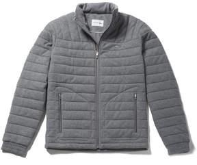 Lacoste Men's Built-in Hood Quilted Piqu Jacket
