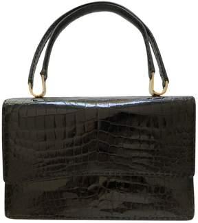 Delvaux Black Crocodile Handbag