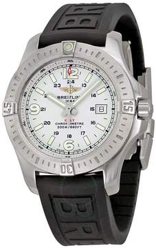 Breitling Colt Stratus Silver Dial Black Rubber Men's Watch A7438811-G792BKPD3