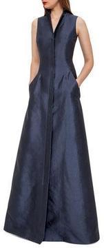 Akris Sleeveless Shantung Gown w/Back A-Cutout