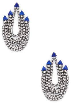 Elizabeth Cole Women's Glass Stone Drop Earrings