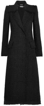 Alexander McQueen Metallic Tweed Coat - Black