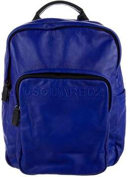 DSQUARED2 Logo Leather Backpack