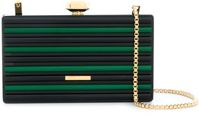 Elie Saab colour block box clutch