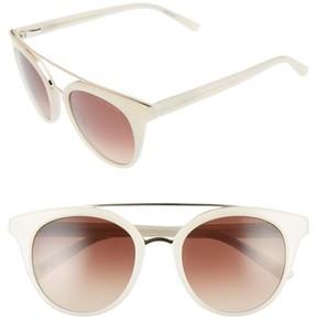 Ted Baker Women's 51Mm Gradient Lens Round Retro Sunglasses - Beige