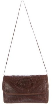 Carlos Falchi Textured Leather Shoulder Bag