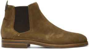 H By Hudson Tan Suede Tonti Chelsea Boots