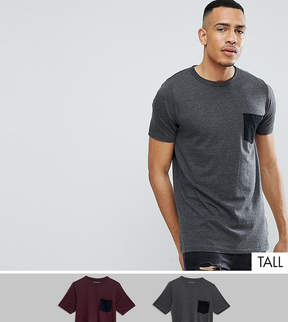 French Connection TALL 2 Pack Pocket T-Shirt