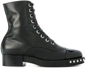No.21 studded lace -up ankle boots