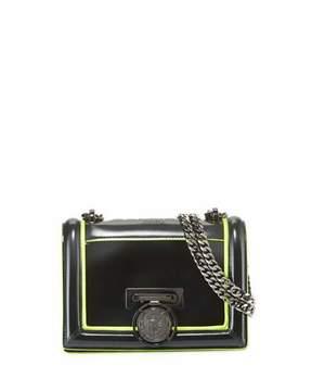 Balmain Baby Box Outline Calf Lisse Leather Shoulder Bag