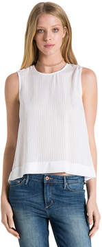 Bella Dahl Button Shoulder Tank-White-XS